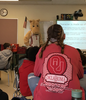 Sooner presenting to the leadership class