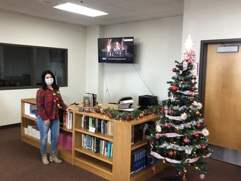 Holiday Spirit in the Library