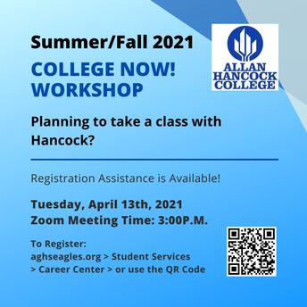 College Now Workshop for Hancock