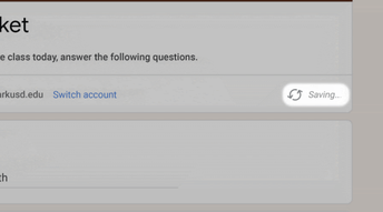 Google Forms Autosave Feature