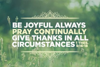 Give Thanks --- in ALL Circumstances