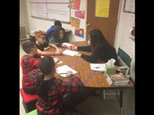 Small group instruction in Ms. Scheele's class.