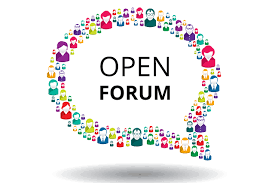 Community Open Forum Ideas Needed