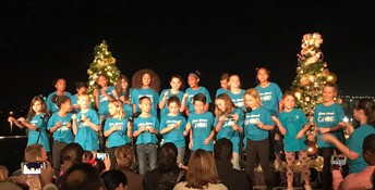 Silver Strand Choir Performs at Loews' Annual Light Up the Night