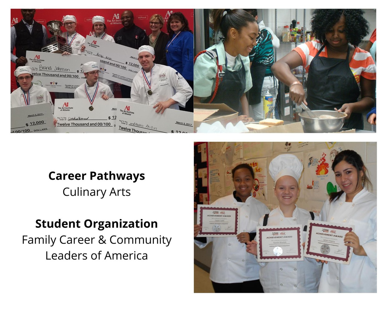 Culinary Arts career pathway photo collage