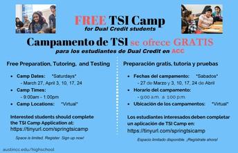 ACC HS Programs Spring 2021 TSI Camp (Virtual)