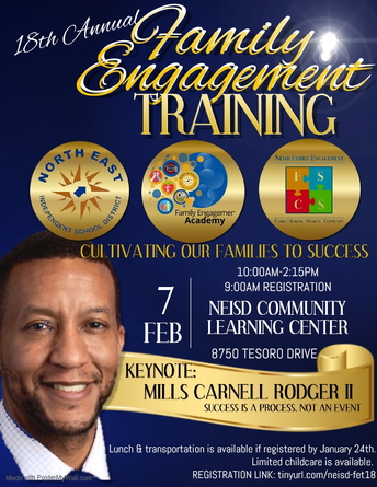 Save the Date-18th Annual Family Engagement Training