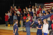 We enjoyed honoring local veterans for their dedication to our country!
