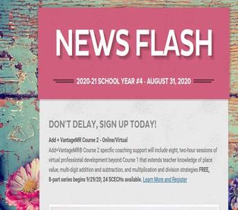 News Flash August 31 banner