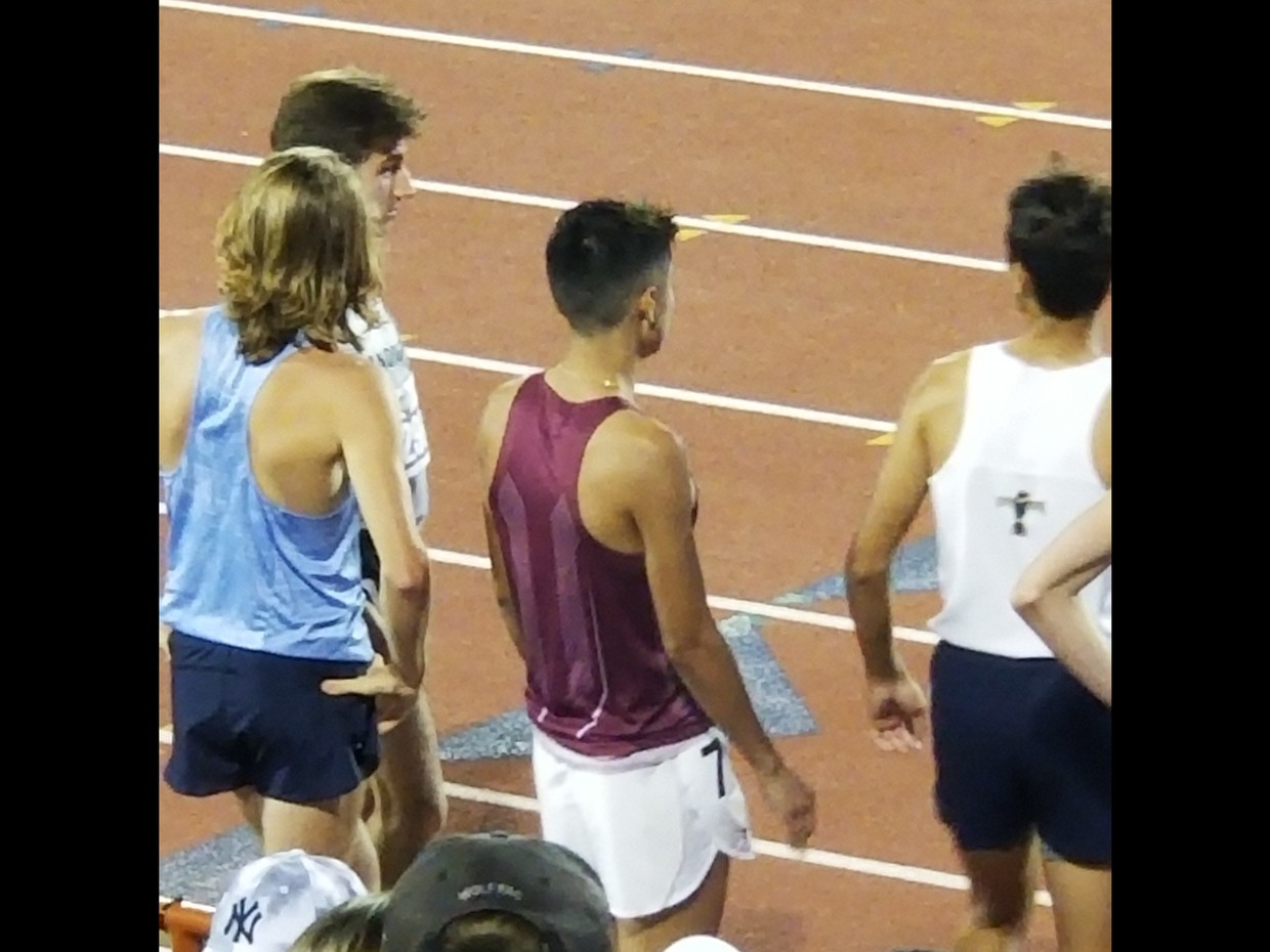 Kobe Yepez getting ready for the 1600 meters