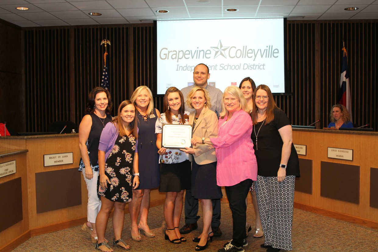GCISD School Board Meeting Recognition