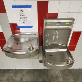 Bring refillable water bottles for water bottle stations/Community fountains have been turned off
