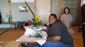 Fort Hayes student learns the art of IKEBANA