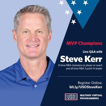 Live Q&A with NBA coach Steve Kerr