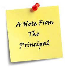From the Principal's Desk..