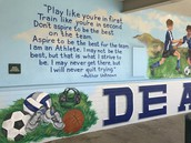 Thanks to local Artist MB Hanrahan, DATA PE  Teacher/Coach Gerry Ornelas for this beautiful addition to the DATA campus