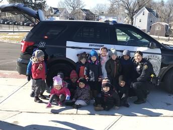 Officer Ericka Garcia visits Pre-K!