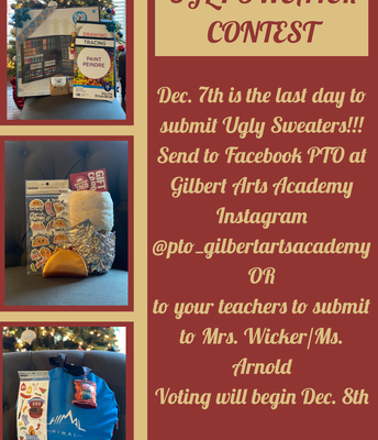 TODAY is the LAST DAY to submit your ugly sweater!!