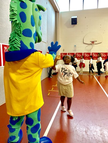 Cummings Elementary was selected to host a Be Fit Program Clinic.