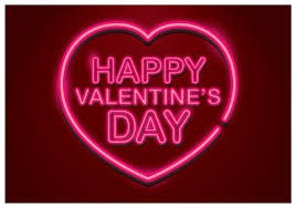 Happy Valentine's Day in a heart