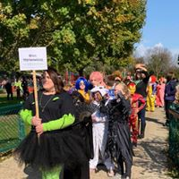 Halloween Parade at the elementary.