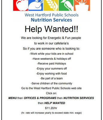Help Wanted in Nutrition Services