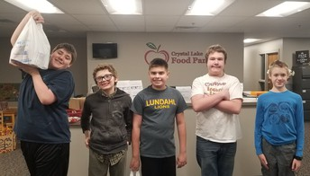 Lundahl Middle School Food Drive