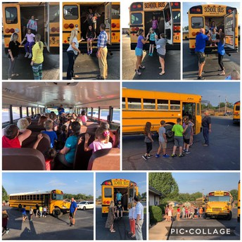 Bus Safety Drill with Coach May