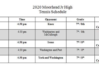 Tennis Schedule