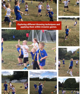 Class 3 and 4 getting active