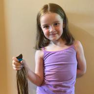 Cheyenne donated 13 inches of her hair!