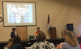 SWAT Students Keynote at El Paso County Tobacco-Free Alliance Meeting