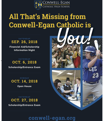 A Message from Our Friends at Conwell-Egan