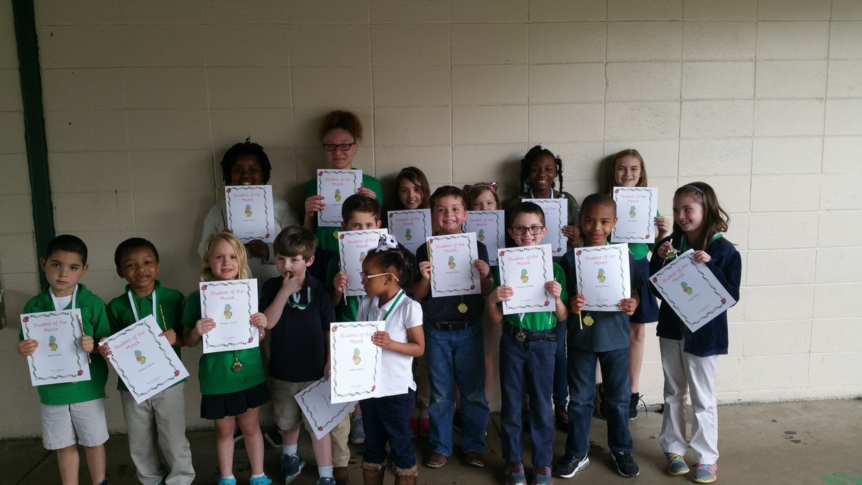 Glendale students were honored for being February Students of the Month. Pictured in random order are Gabriel Andrepont, Cailee Guillory, Nathan Comeaux, Joshua Buxton, Madisyn Aucoin, B'Laisyn Fontenot, Hayden Meche, Gracie Fulford, Karson Boone, Owen Thibodeaux, Allie Olivier, Harley Matte, Mimi jack, Hailey Thomas, Kelsie Gaspard, J'Layah Janice. Not pictured is Harley Miller.