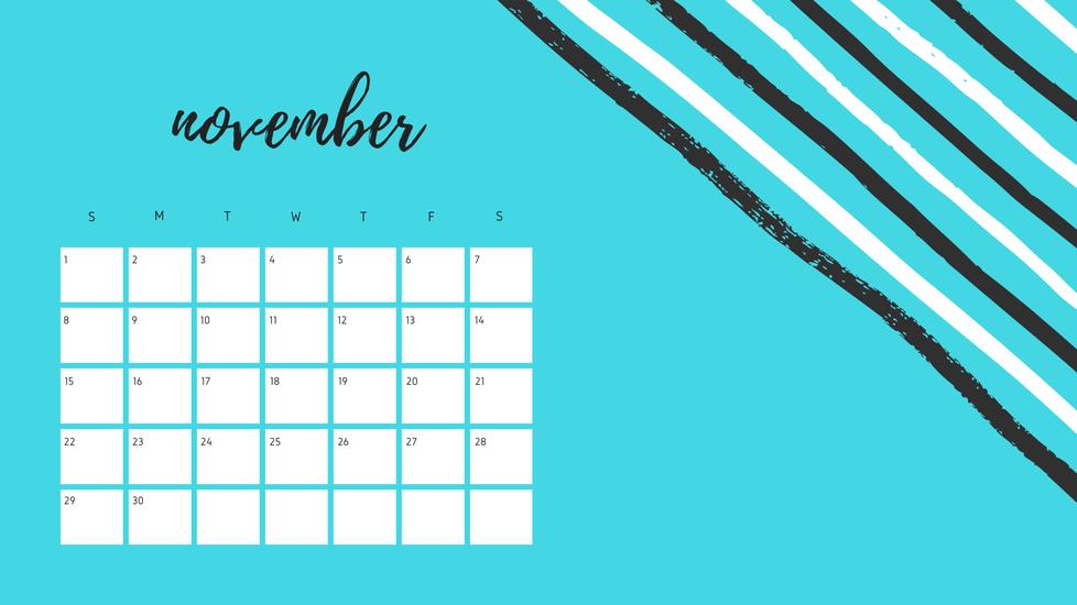 calendar image of November