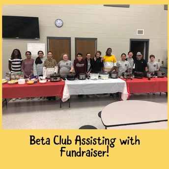 Our Beta Club offered a Chili Bingo night to raise funds for their Beta Convention.