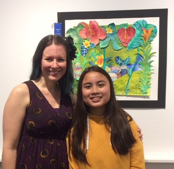 Christine Uy Wins First Place at Art Competition