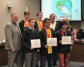 Knights Honored at End of Year TUSD Board Meeting