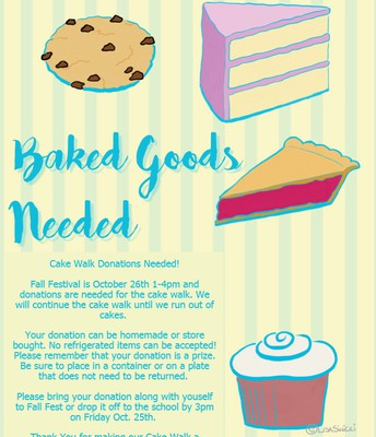 Fall Fest Cake Walk Donations Needed