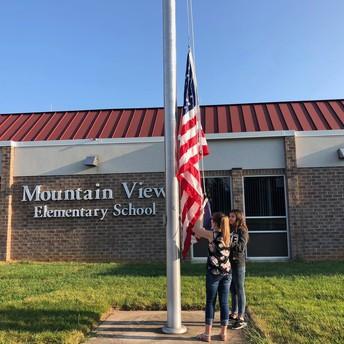 MVES Flag Raising