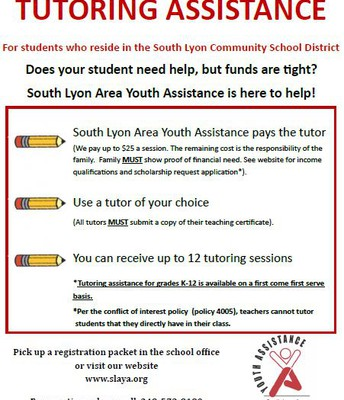 Youth Assistance - Free Tutoring