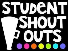 PAWLIE'S STUDENT SHOUT OUTS