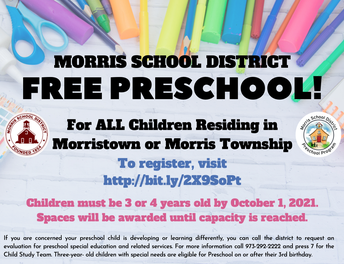 The MSD Preschool Program Welcomes You!