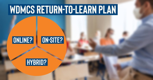 WDMCS Return-to-Learn plan graphic
