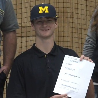 Elida Senior Signs Letter of Intent-University of Michigan- Baseball Scholarship