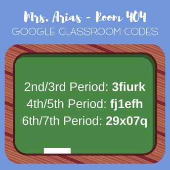 Mrs. Arias' Class Codes