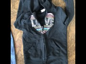 Circo love sweatshirt size 6/6x