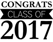 Congrats 2017 Graduates!