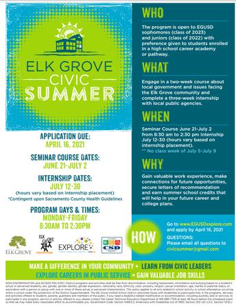 Elk Grove Civic Summer Program