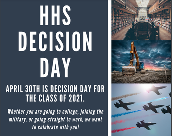 Senior Decision Day- Education, Employment, Enlistment- April 30th